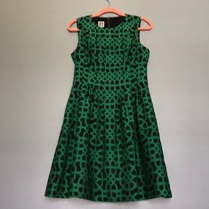 Anne Kline. Black and green dress